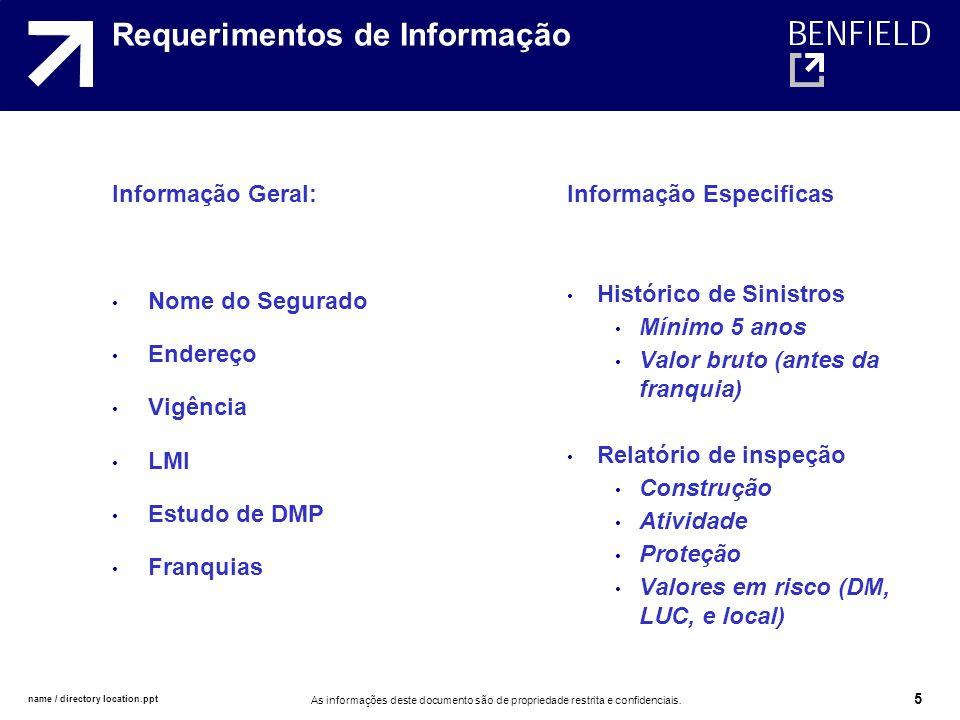 Requerimentos de Informação