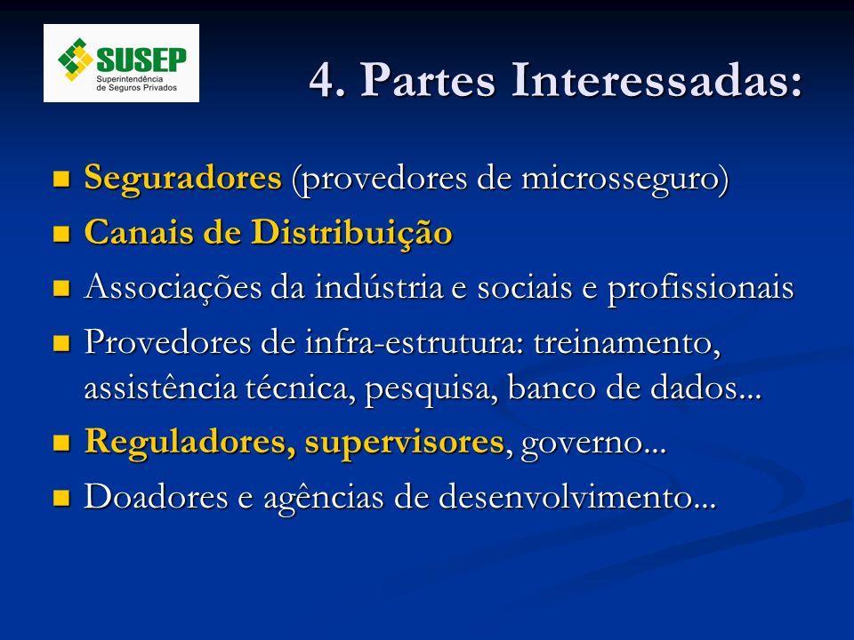 4. Partes Interessadas: Seguradores (provedores de microsseguro)