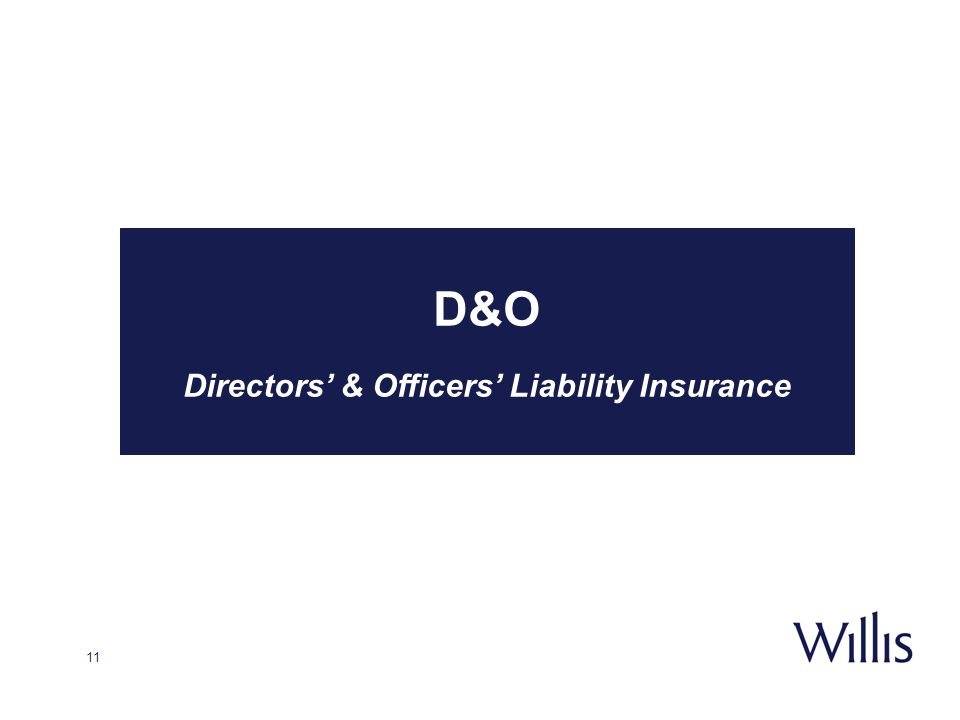 Directors' & Officers' Liability Insurance