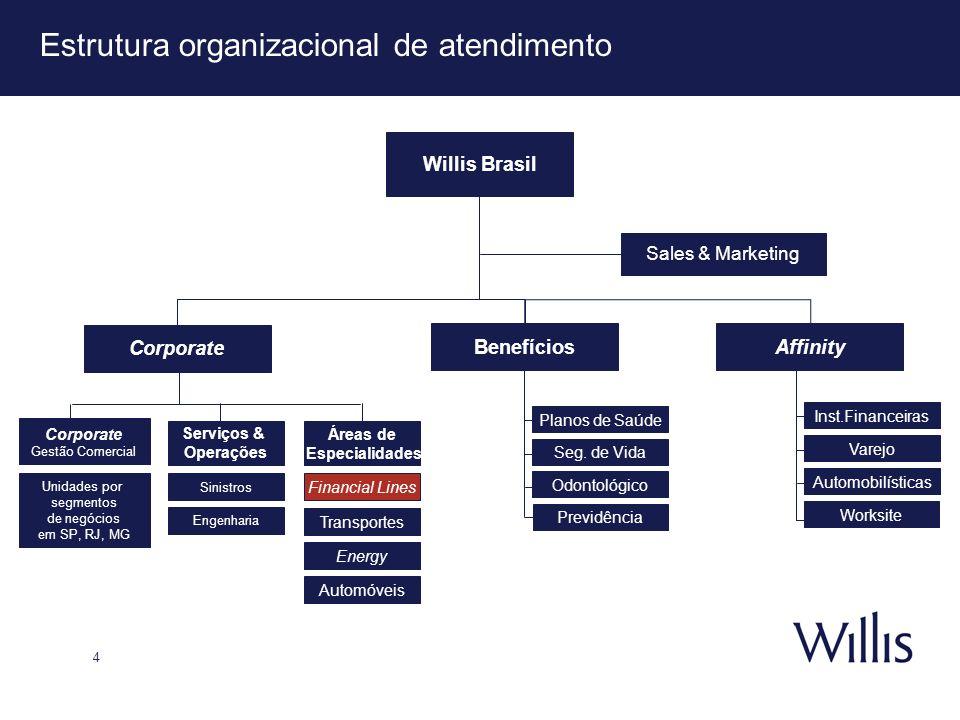 Estrutura organizacional de atendimento