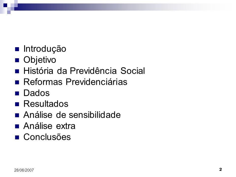 História da Previdência Social Reformas Previdenciárias Dados