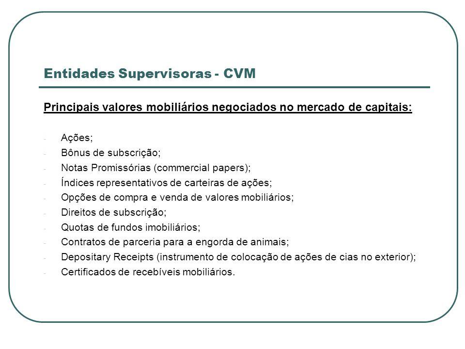 Entidades Supervisoras - CVM