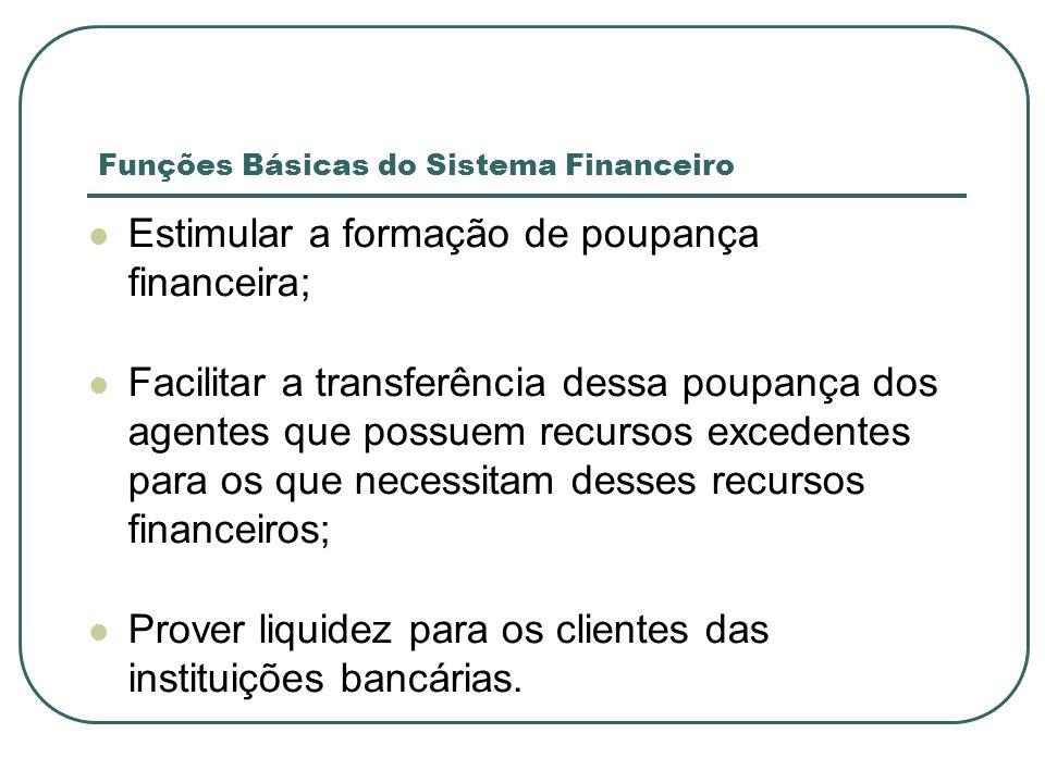 Funções Básicas do Sistema Financeiro