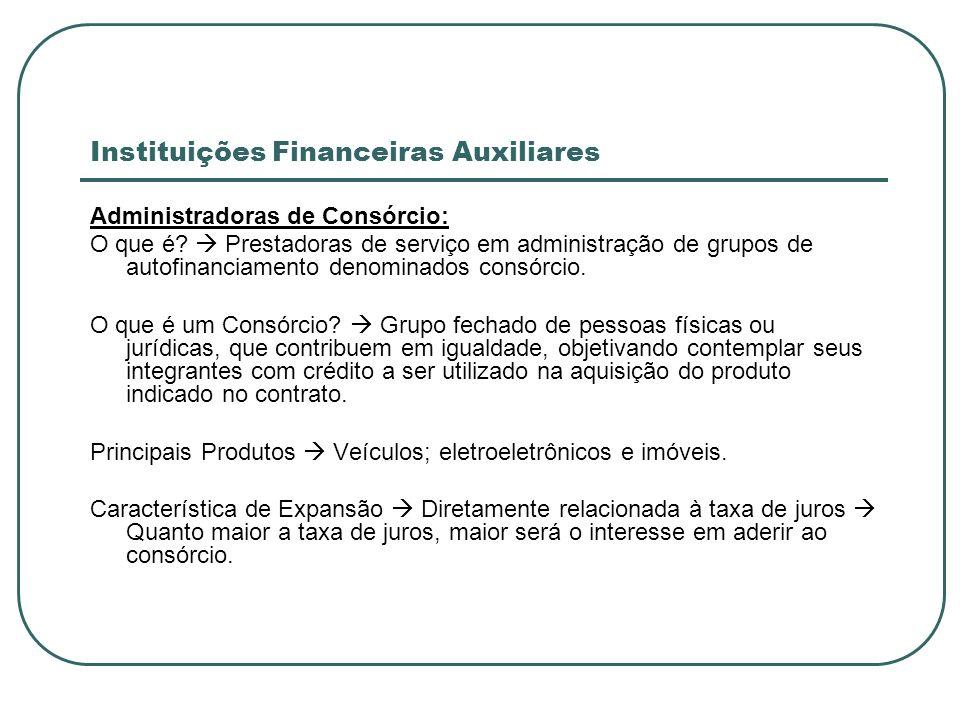 Instituições Financeiras Auxiliares