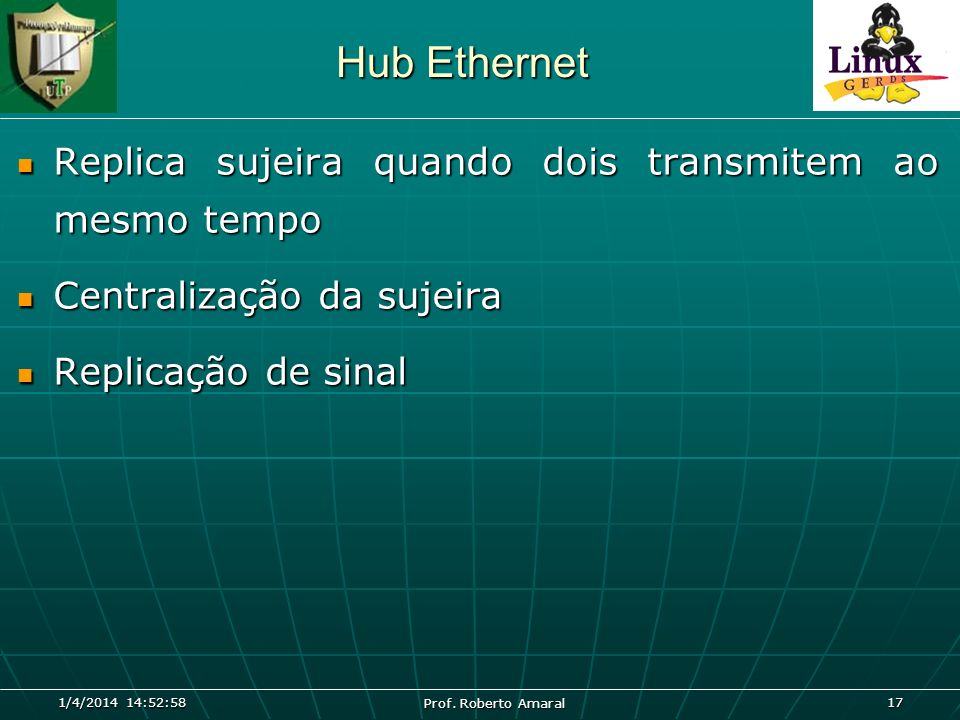 Hub Ethernet Replica sujeira quando dois transmitem ao mesmo tempo