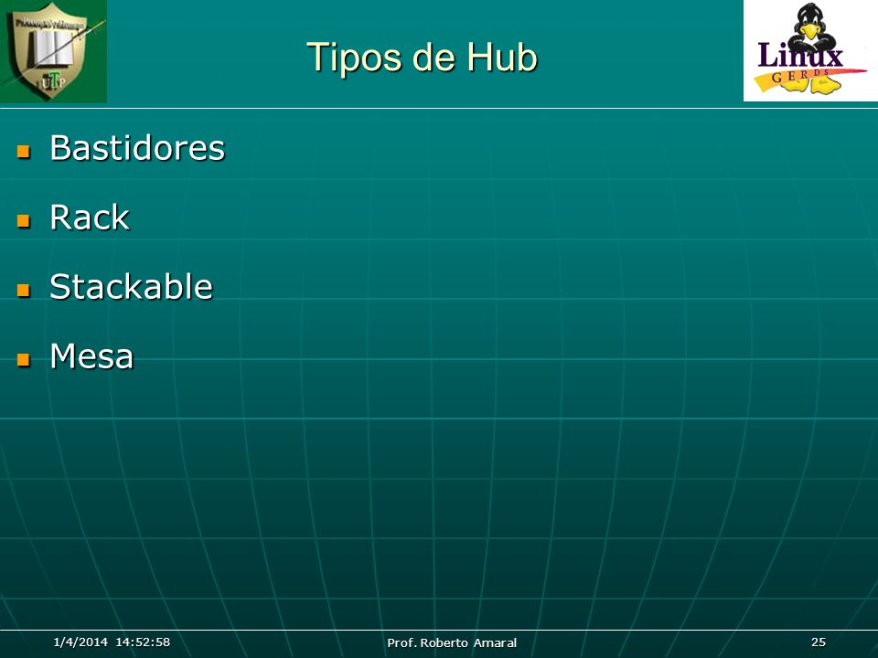 Tipos de Hub Bastidores Rack Stackable Mesa 26/03/2017 04:45:04