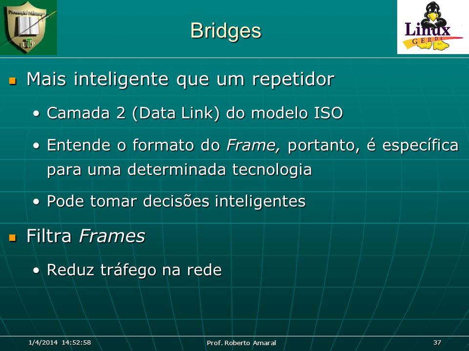 Bridges Mais inteligente que um repetidor Filtra Frames