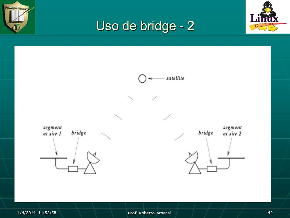 Uso de bridge - 2 26/03/2017 04:45:04 Prof. Roberto Amaral