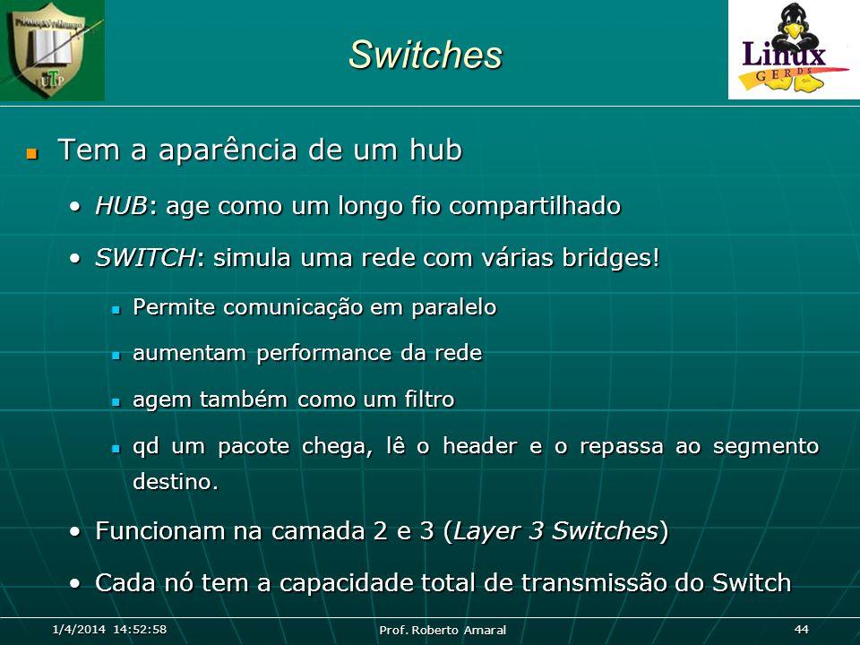 Switches Tem a aparência de um hub