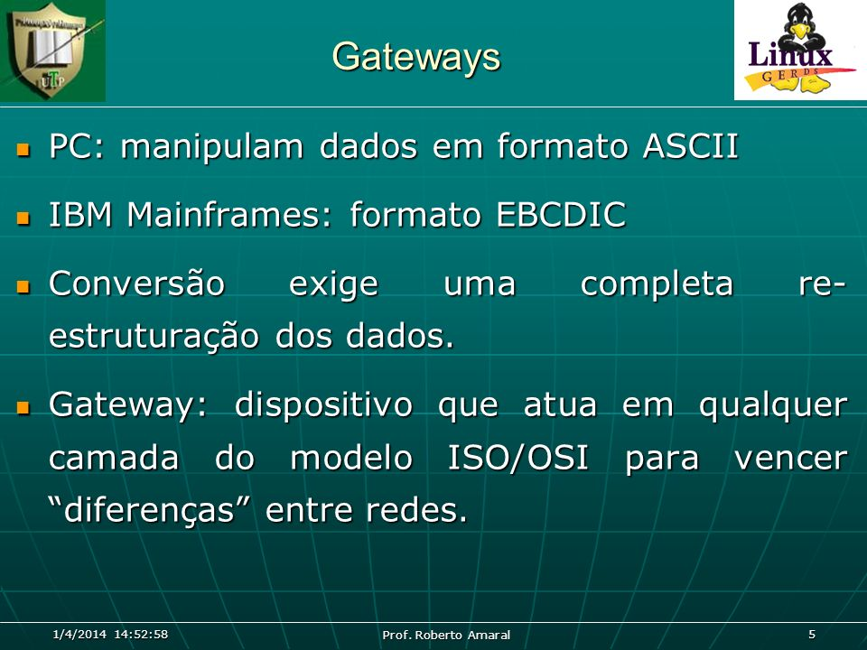 Gateways PC: manipulam dados em formato ASCII
