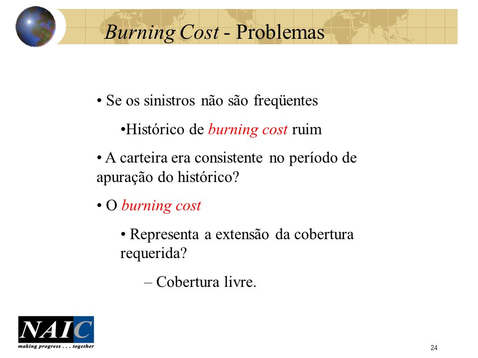 Burning Cost - Problemas