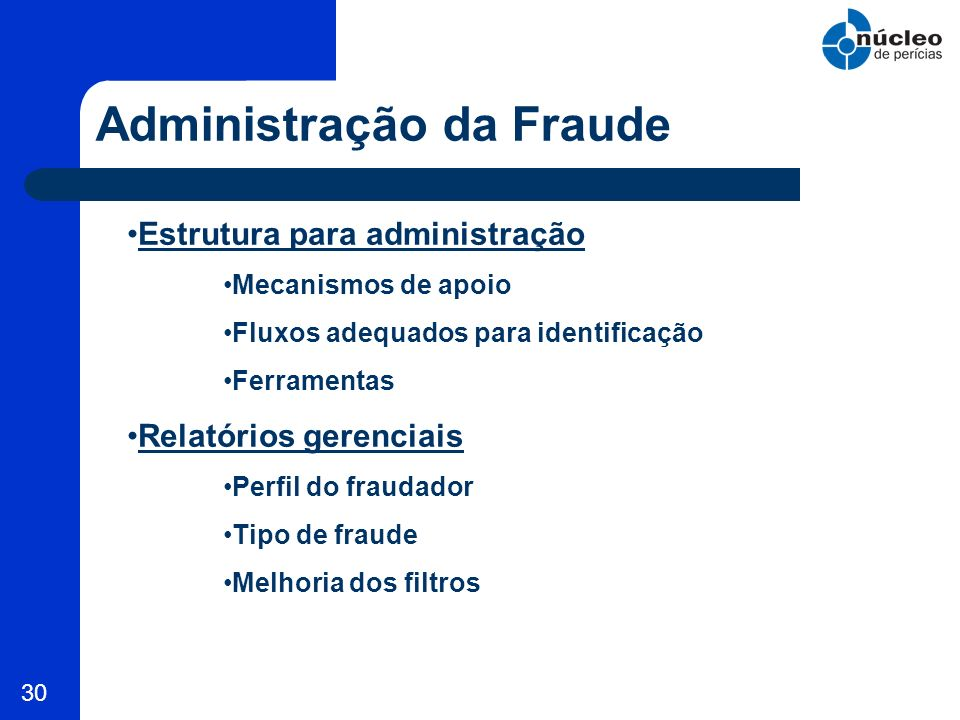 Administração da Fraude