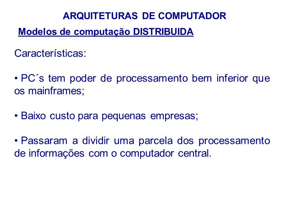 ARQUITETURAS DE COMPUTADOR