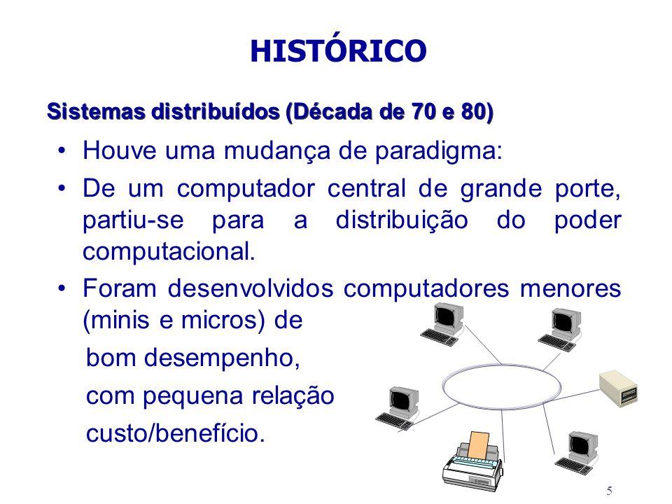 Sistemas distribuídos (Década de 70 e 80)