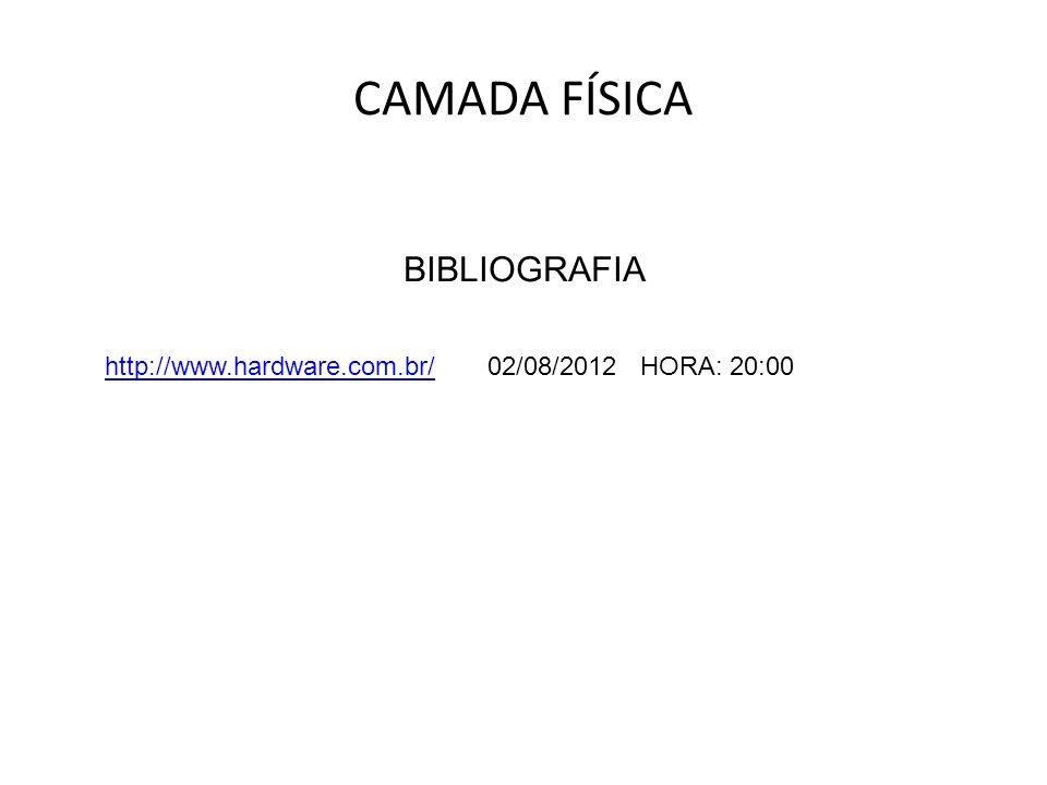 CAMADA FÍSICA BIBLIOGRAFIA