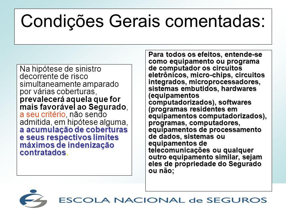 Condições Gerais comentadas: