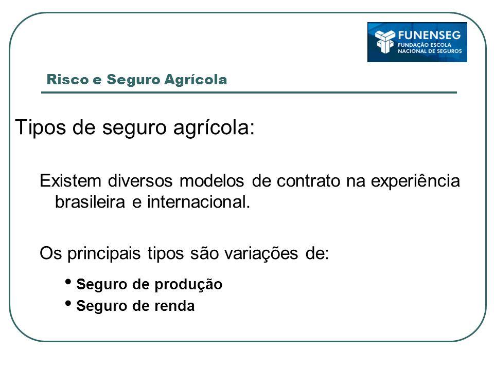 Tipos de seguro agrícola: