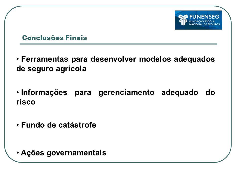 Ferramentas para desenvolver modelos adequados de seguro agrícola