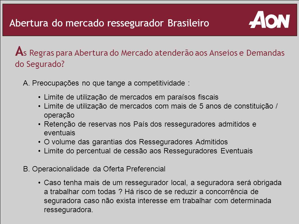 Abertura do mercado ressegurador Brasileiro