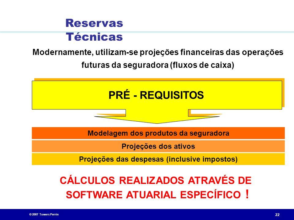 Reservas Técnicas PRÉ - REQUISITOS CÁLCULOS REALIZADOS ATRAVÉS DE