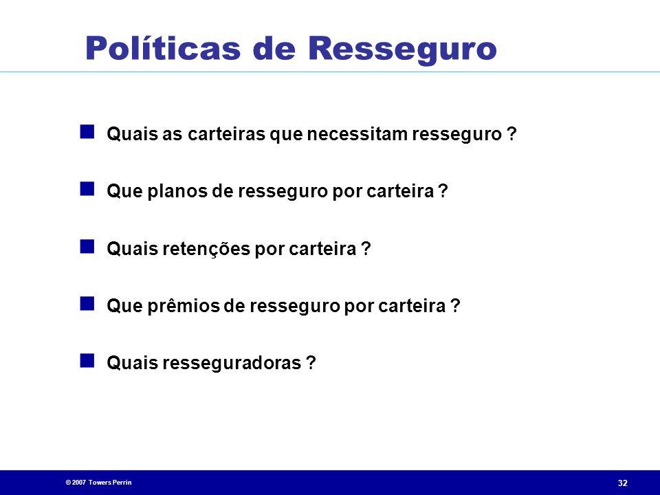Políticas de Resseguro