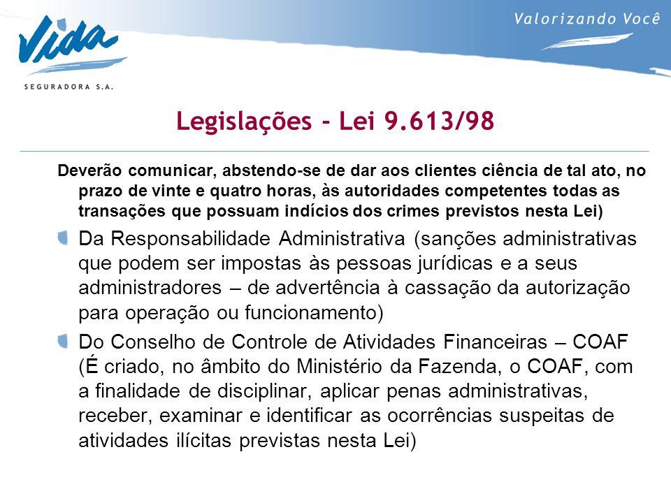 Legislações - Lei 9.613/98