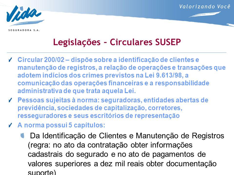 Legislações – Circulares SUSEP