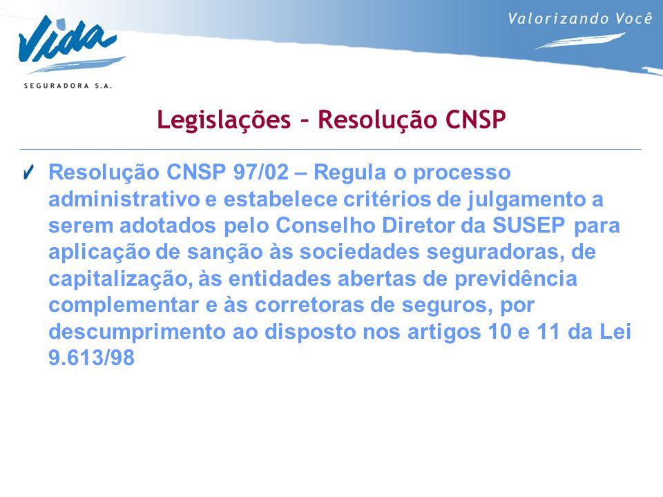 Legislações – Resolução CNSP