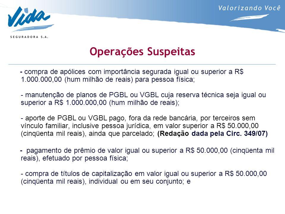 Operações Suspeitas