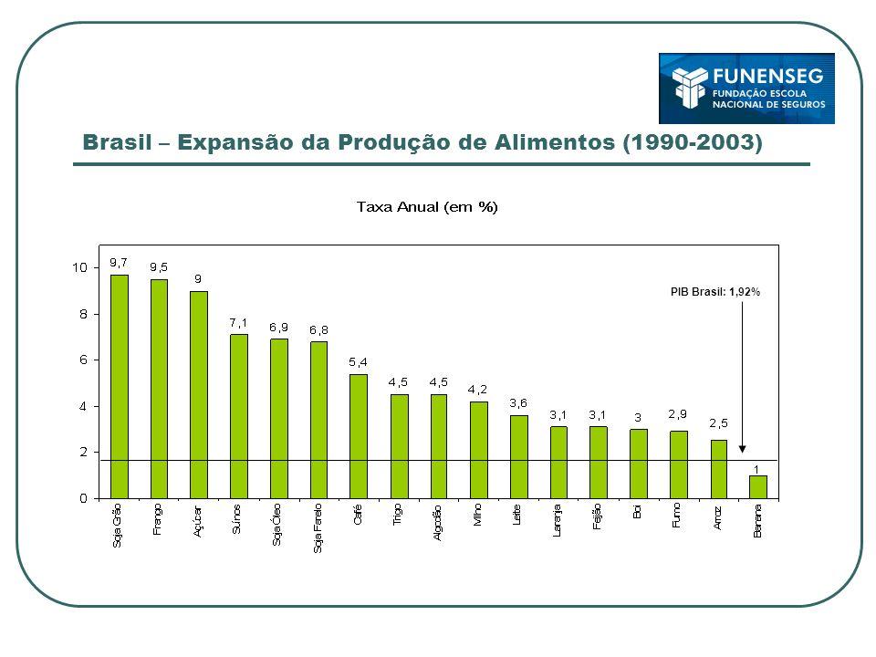 Brasil – Expansão da Produção de Alimentos (1990-2003)