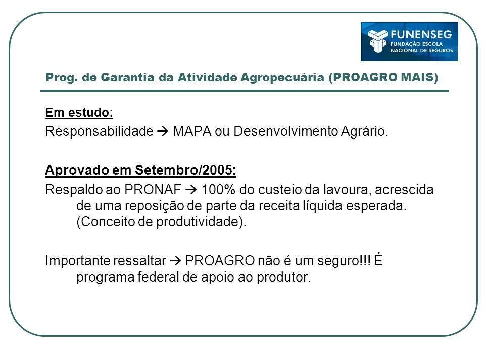 Prog. de Garantia da Atividade Agropecuária (PROAGRO MAIS)