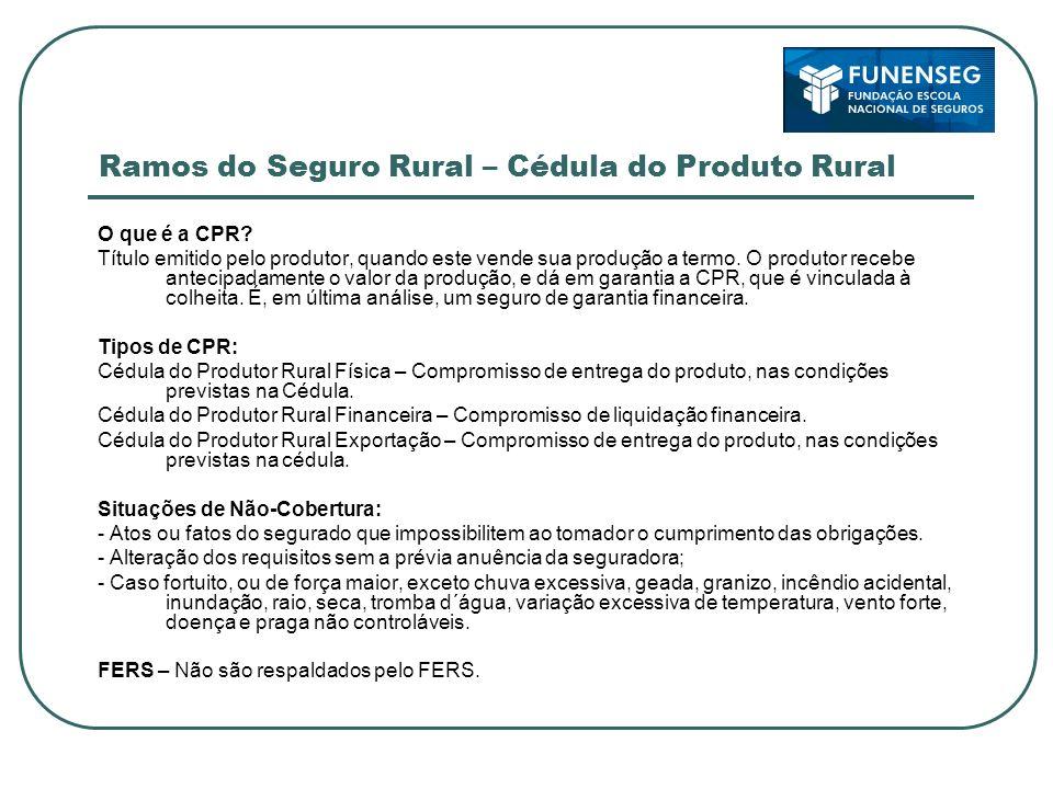 Ramos do Seguro Rural – Cédula do Produto Rural