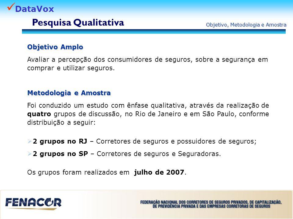 Pesquisa Qualitativa Objetivo Amplo