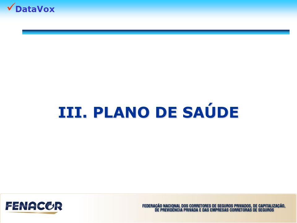 III. PLANO DE SAÚDE