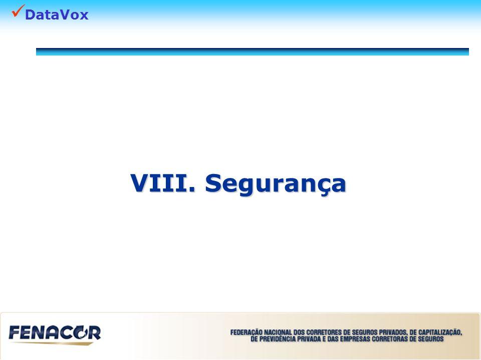 VIII. Segurança