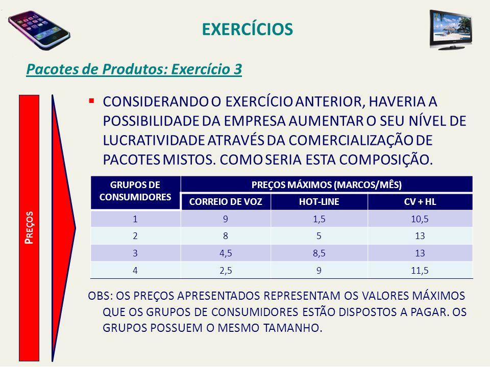 GRUPOS DE CONSUMIDORES PREÇOS MÁXIMOS (MARCOS/MÊS)