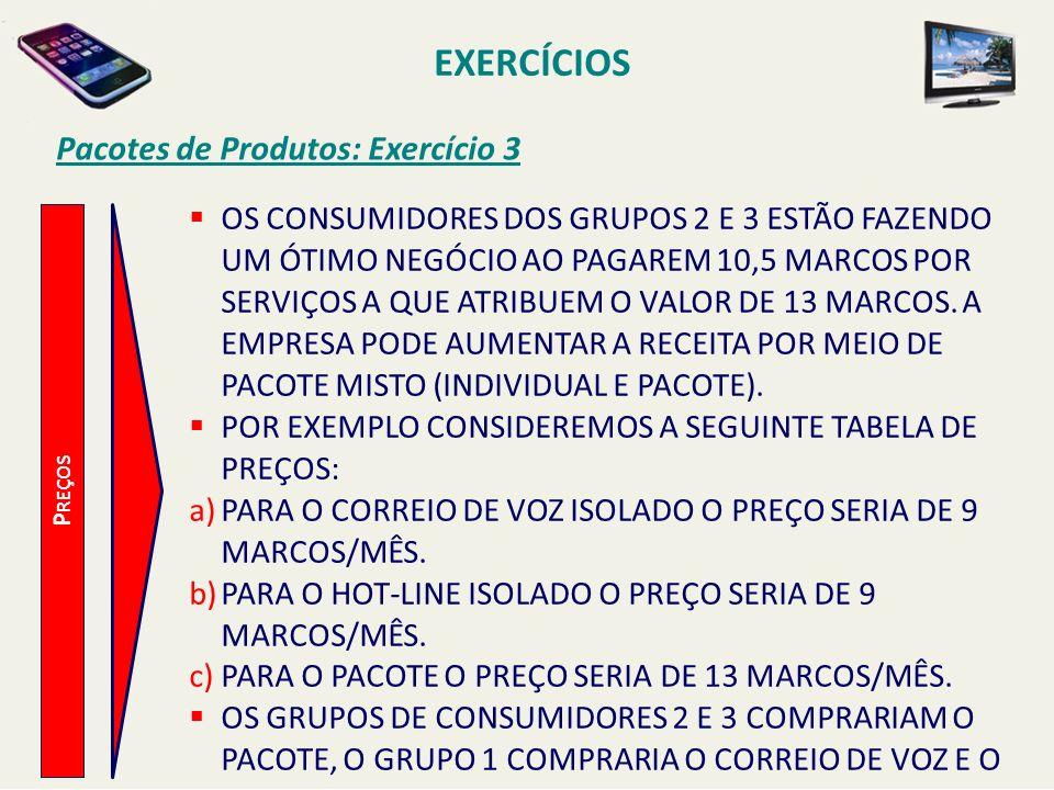 EXERCÍCIOS Pacotes de Produtos: Exercício 3