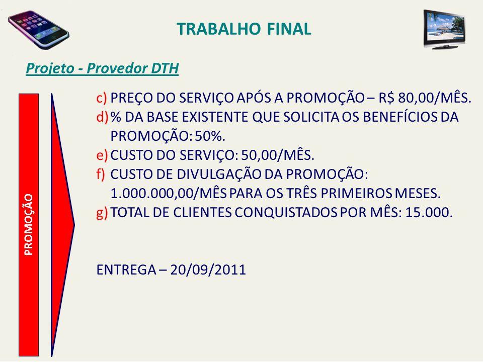 TRABALHO FINAL Projeto - Provedor DTH