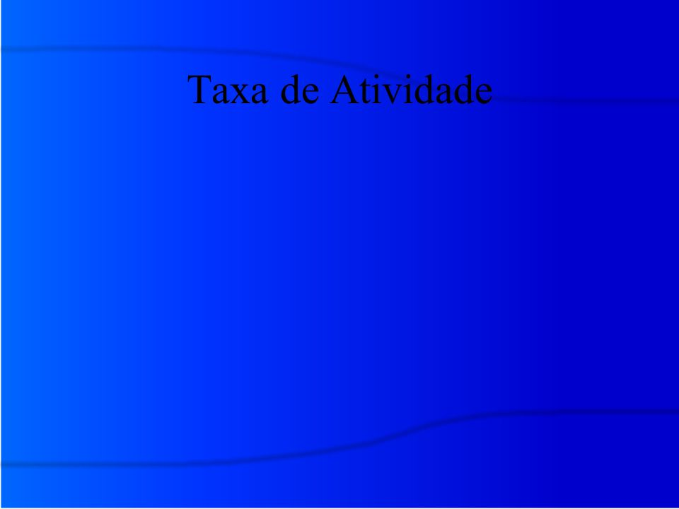 Taxa de Atividade