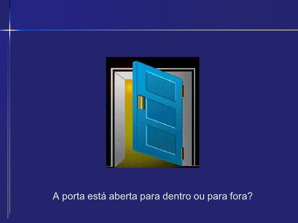 A porta está aberta para dentro ou para fora