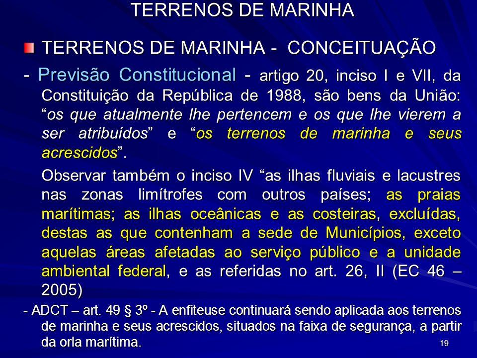 TERRENOS DE MARINHA - CONCEITUAÇÃO