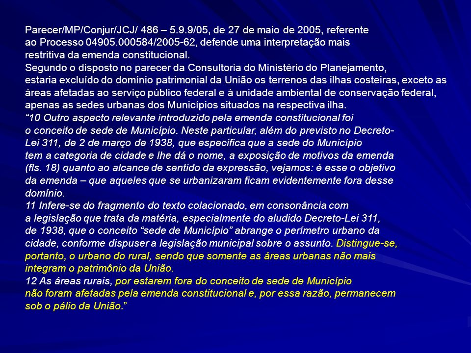 Parecer/MP/Conjur/JCJ/ 486 – 5. 9