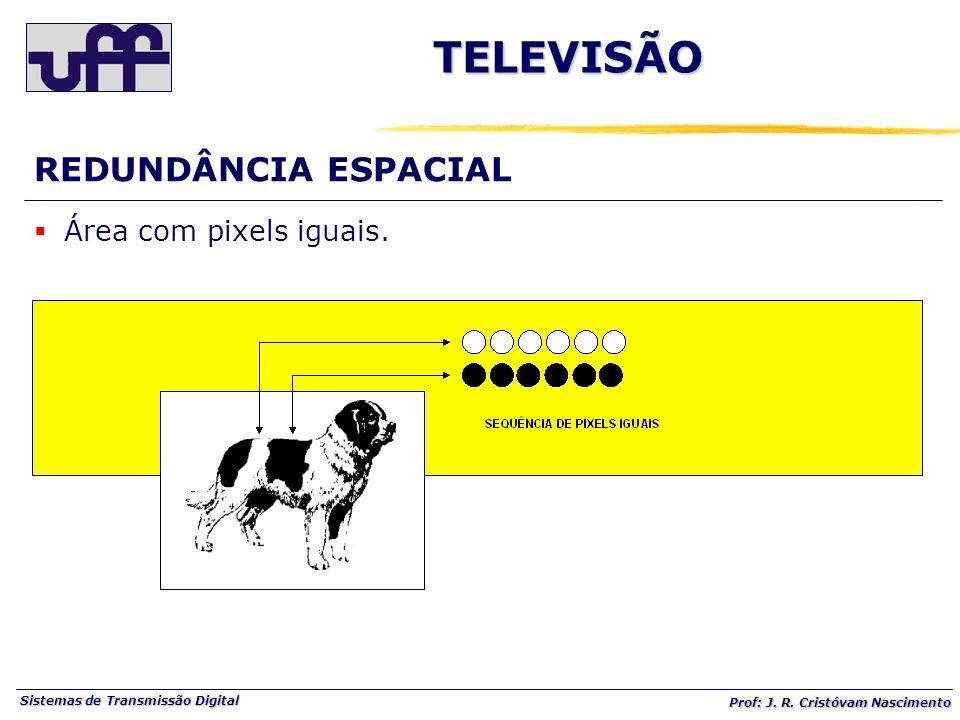 TELEVISÃO REDUNDÂNCIA ESPACIAL Área com pixels iguais.