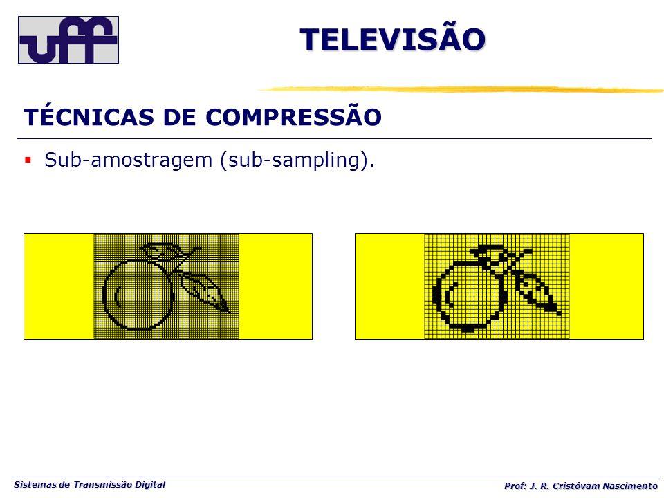 TELEVISÃO TÉCNICAS DE COMPRESSÃO Sub-amostragem (sub-sampling).
