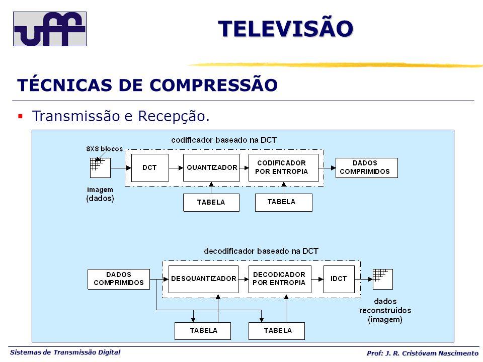 TELEVISÃO TÉCNICAS DE COMPRESSÃO Transmissão e Recepção.