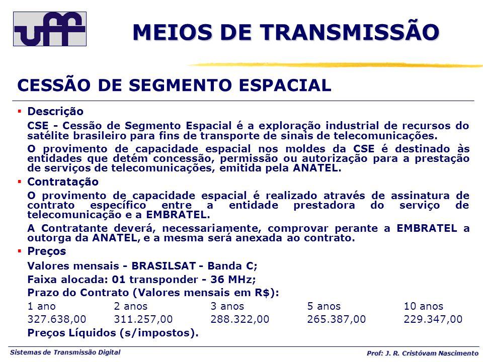 MEIOS DE TRANSMISSÃO CESSÃO DE SEGMENTO ESPACIAL Descrição