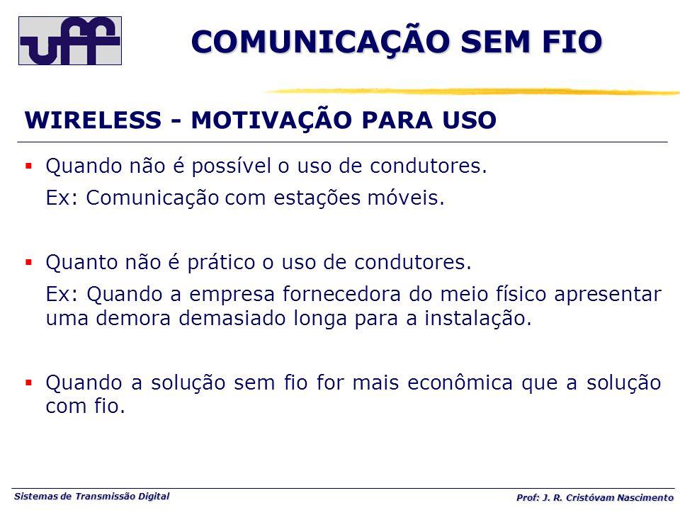 COMUNICAÇÃO SEM FIO WIRELESS - MOTIVAÇÃO PARA USO