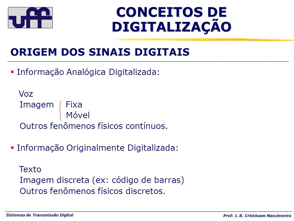 CONCEITOS DE DIGITALIZAÇÃO