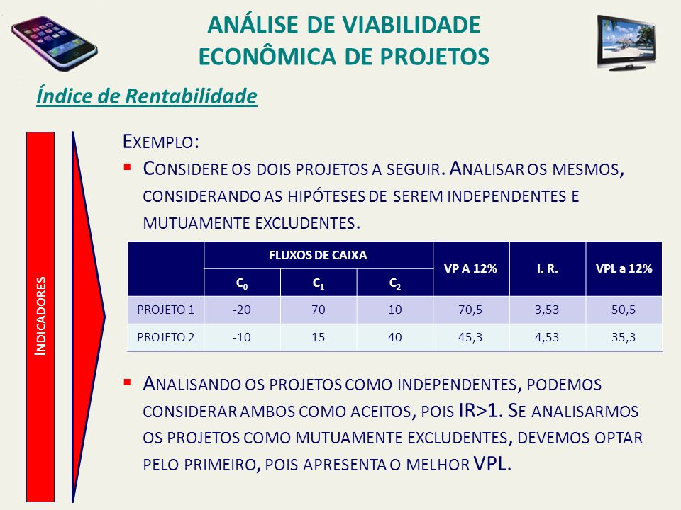 ANÁLISE DE VIABILIDADE ECONÔMICA DE PROJETOS