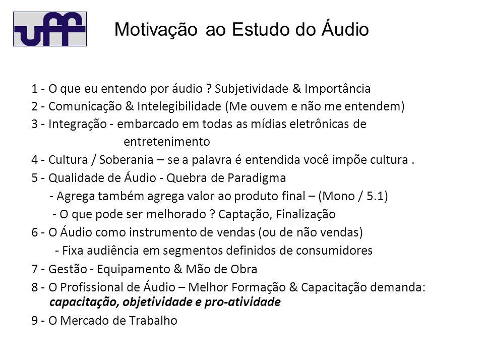 Motivação ao Estudo do Áudio